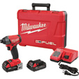 FREE SHIPPING — Milwaukee M18 FUEL 1/4in. Hex Impact Driver Kit — With 2 Compact Batteries, 2.0Ah, Model# 2753-22CT