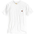 Carhartt Men's Workwear Short Sleeve Pocket T-Shirt - White, Small, Regular Style, Model# K87 The price is $14.99.