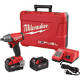 FREE SHIPPING — Milwaukee M18 FUEL Compact Cordless Impact Wrench Kit with Friction Ring — 1/2in. Drive, 220 Ft.-Lbs., 2 Batteries, Model# 2755B-22 The price is $329.00.