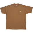 Carhartt Men's Workwear Short Sleeve Pocket T-Shirt - Brown, 2XL, Regular Style, Model# K87 The price is $14.99.