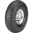 Ironton 10in. Pneumatic Wheel and Tire— 300-Lb. Capacity, Lug Tread The price is $13.49.