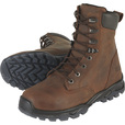 FREE SHIPPING — Gravel Gear 8in. Waterproof Steel Toe Work Boots — Copper Brown, Size 13, Model# NT004 The price is $111.99.