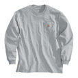 Carhartt Men's Workwear Long Sleeve Pocket T-Shirt - Heather Gray, X-Large, Regular Style, Model# K126 The price is $20.99.
