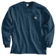 Carhartt Men's Workwear Long Sleeve Pocket T-Shirt - Navy, Large, Regular Style, Model# K126 The price is $20.99.