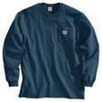 Carhartt Men's Workwear Long Sleeve Pocket T-Shirt - Navy, Large, Tall Style, Model# K126 TLL The price is $20.99.
