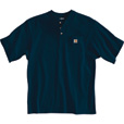 Carhartt Men's Short Sleeve Workwear Henley - Navy, X-Large, Regular Style, Model# K84 The price is $16.99.