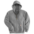 Carhartt Men's Hooded Zip-Front Sweatshirt - Heather Gray, 2XL, Tall Style, Model# K122 The price is $42.99.