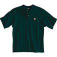 Carhartt Men's Short Sleeve Workwear Henley - Hunter Green, 3XL, Big Style, Model# K84 The price is $18.99.