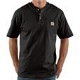 Carhartt Men's Short Sleeve Workwear Henley - Black, 2XL Tall, Model# K84 The price is $18.99.
