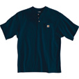 Carhartt Men's Short Sleeve Workwear Henley - Navy, 3XL, Tall Style, Model# K84 The price is $18.99.