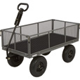Bannon Industrial-Grade Steel Garden Wagon — 1,200-Lb. Capacity, 49in.L x 24 1/2in.W, 13in. Tires The price is $169.99.