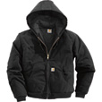 Carhartt Duck Active Jacket — Quilt-Lined, Black, 3XL, Big Style, Model# J140