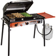 Camp Chef Big Gas Grill — 3-Burner Stove with Deluxe Grill Box