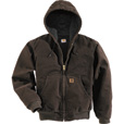 Carhartt Men's Sandstone Active Jacket - Quilted Flannel Lined, Dark Brown, Medium, Regular Style, Model# J130 The price is $99.99.