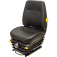 K & M Uni Pro 411 Highback Mechanical Suspension Seat — Black, Vinyl, Model# 8363 The price is $1,049.99.