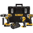 FREE SHIPPING — DEWALT 20V MAX Li-Ion Cordless Power Tool Set — 1/2in. Hammerdrill & 1/4in. Hex Impact Driver, With LED Worklight and 2 Batteries, Model# DCKTS390DM2