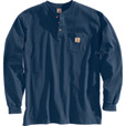 Carhartt Men's Long-Sleeve Workwear Henley - Navy, 4XL, Big Style, Model# K128 The price is $24.99.