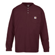 Carhartt Men's Long-Sleeve Workwear Henley - Port, XL, Regular Style, Model# K128 The price is $22.99.