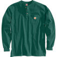 Carhartt Men's Long-Sleeve Workwear Henley - Hunter Green, 2XL, Tall Style, Model# K128 The price is $27.99.