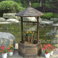 Stonegate Designs Wooden Wishing Well Planter — Model# DSL-4142 The price is $99.99.