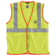 Carhartt High-Visibility Class 2 Mesh Safety Vest — Bright Lime, Regular Style, Model# V043