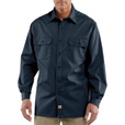 Carhartt Men's Long Sleeve Twill Work Shirt - Navy, 3XL, Big Style, Model# S224 The price is $26.99.