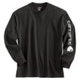 Carhartt Long Sleeve Graphic Logo T-Shirt — Black, XL, Model# K231 The price is $22.99.