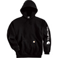 Carhartt Men's Midweight Hooded Logo Sweatshirt - Black, XL Tall, Model# K288 The price is $47.99.