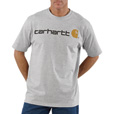 Carhartt Men's Short Sleeve Logo T-Shirt - Heather Gray, Large, Model# K195 The price is $19.99.