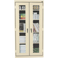 Sandusky Lee Welded Steel Storage Cabinet — Expanded Metal Front, 36in.W x 18in.D x 72in.H, Putty, Model# CA4M361872-07