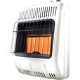 FREE SHIPPING — Mr. Heater Vent-Free Natural Gas Radiant Wall Heater — 20,000 BTU, 3-Plaque, Model# MHVFR20NGT The price is $179.99.