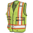 Work King Men's Class 2 High Visibility Surveyor Vest — Lime, 3XL, Model# S31311 The price is $69.99.