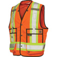 Work King Men's Class 2 High Visibility Surveyor Vest — Orange, Large, Model# S31311 The price is $69.99.