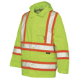 Work King Class 2 High-Visibility Rain Jacket — Big Sizes