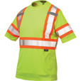 Work King Men's Class 2 High Visibility T-Shirt with 3M Scotchlite Material  — Lime