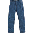 Carhartt Men's Flame-Resistant Denim Dungaree - 35in. Waist x 32in. Inseam, Model# FRB13 The price is $67.99.