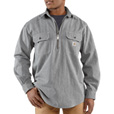 Carhartt Hickory Stripe Denim Shirt — Big and Tall Sizes, Model# 100092