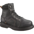 Harley-Davidson Men's Pete 6in. Steel Toe EH Boot - Black, Size 10 1/2, Model# D95326 The price is $139.99.
