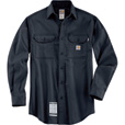 Carhartt Men's Flame-Resistant Work-Dry Twill Shirt - Navy, 4XL Tall, Model# FRS003 The price is $68.99.