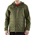 Carhartt Soft Shell Hybrid Jacket — Army Green, Model J294