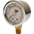 Valley Instrument Grade A Stem Mount 1 1/2in. Glycerin Filled Gauge — 0-60 PSI The price is $16.99.