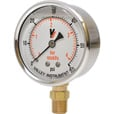 Valley Instrument Grade A Stem Mount 2 1/2in. Glycerin Filled Gauge — 0-60 PSI The price is $19.99.