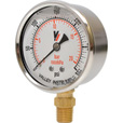 Valley Instrument Grade A Stem Mount 2 1/2in. Glycerin Filled Gauge — 0-300 PSI The price is $19.99.