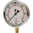 Valley Instrument Grade A 4in. Stem Mount Glycerin Filled Gauge — 0-60 PSI The price is $27.99.