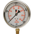 Valley Instrument Grade A 4in. Stem Mount Glycerin Filled Gauge — 0-2000 PSI The price is $27.99.