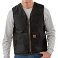 Carhartt Men's Rugged Vest With Sherpa Lining - Black, Large, Model# V26-BG The price is $59.99.