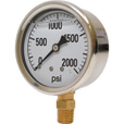 Valley Instrument 2 1/2in. Stainless Steel Glycerin Gauge — 0-2000 PSI The price is $13.99.
