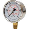 Valley Instrument 2 1/2in. Stainless Steel Glycerin Gauge — 0-15,000 PSI The price is $13.99.