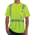 Carhartt Men's Force High-Vis Short Sleeve Class 2 T-Shirt — Lime, Model# 100495-323