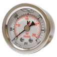Valley Instrument Grade A Back Mount 1 1/2in. Glycerin Filled Gauge — 0-3000 PSI The price is $16.99.